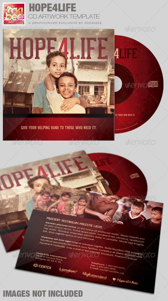 GraphicRiver Hope4Life Charity CD Artwork Template 7423504