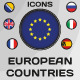 Set of 45 Icons European Countries - GraphicRiver Item for Sale