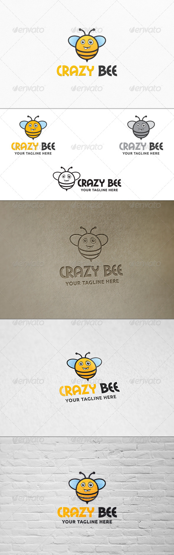 GraphicRiver Crazy Bee Logo Template 7423690