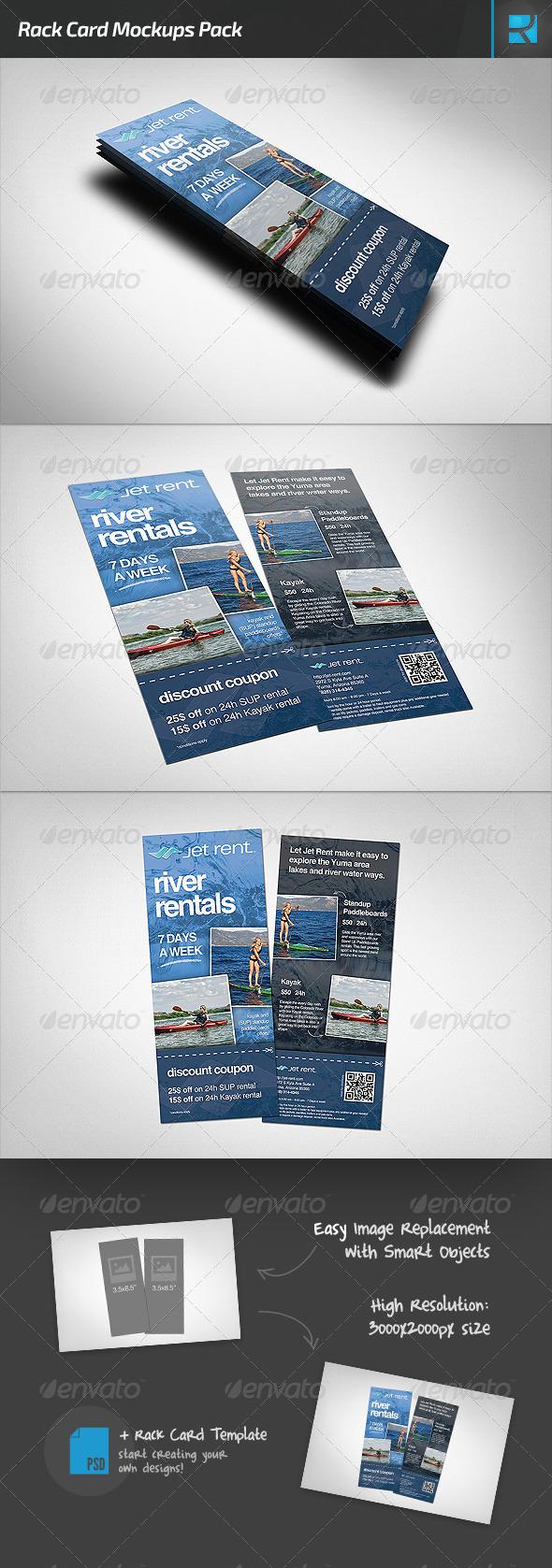 GraphicRiver Rack Card Mockups Pack 7423718