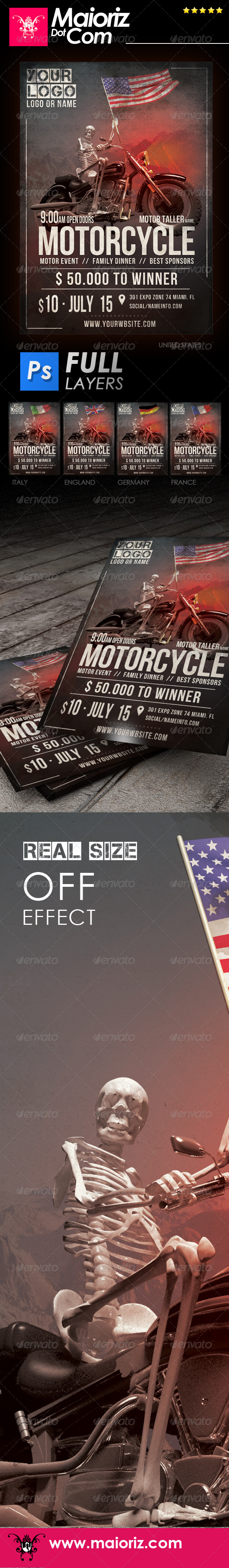 GraphicRiver Motorcycle Event Flyer 7423743