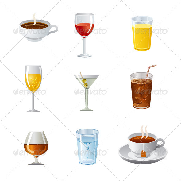 GraphicRiver Drinks Icon Set 7423860