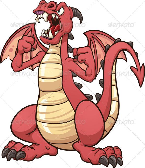 GraphicRiver Cartoon Dragon 7423908