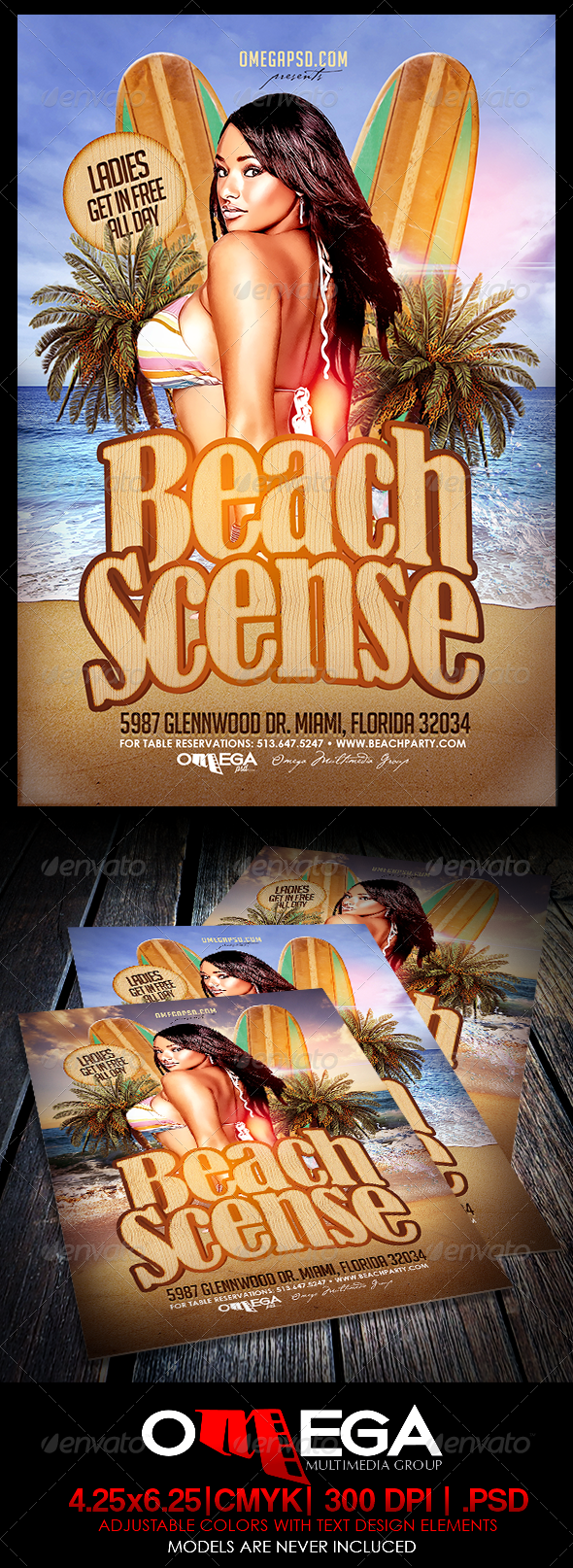 GraphicRiver Beach Scenes 7423995