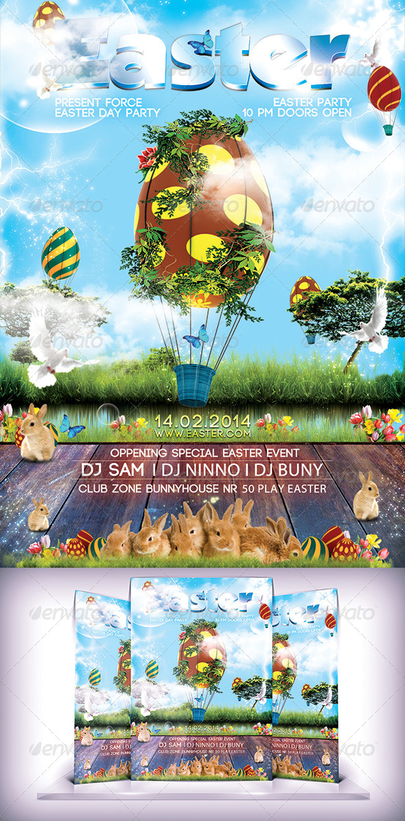 GraphicRiver Easter Flyer 7423998