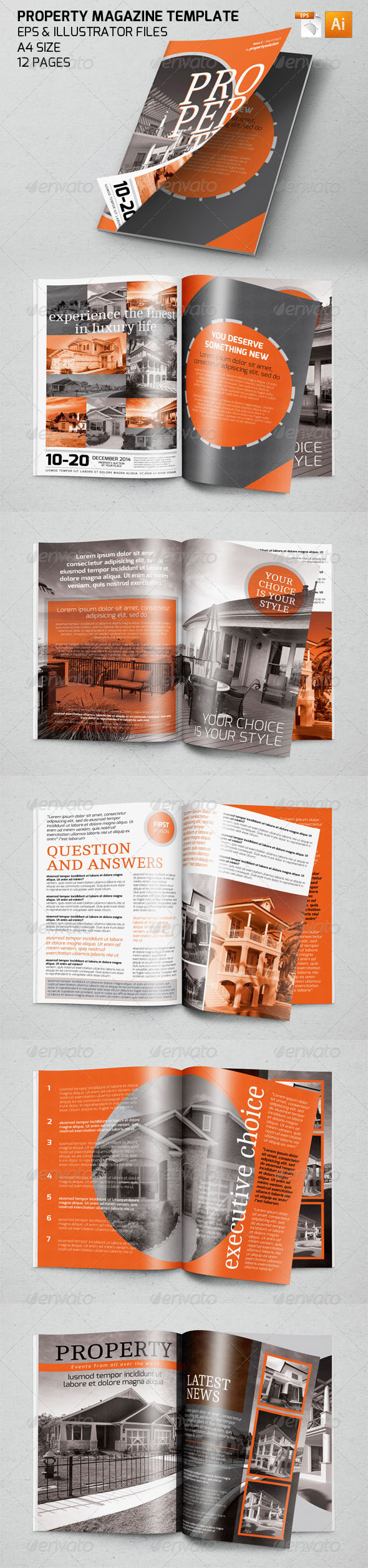 GraphicRiver Property Magazine Template 7424034