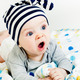 The blue-eyed baby yawning - PhotoDune Item for Sale