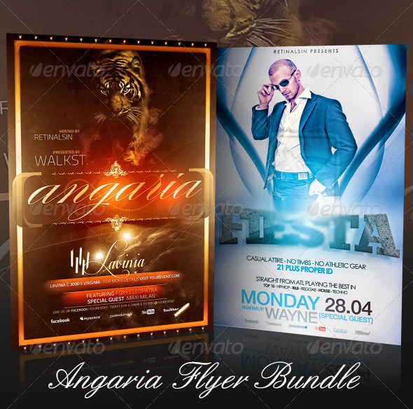 GraphicRiver Angaria Flyer Bundle 7424261