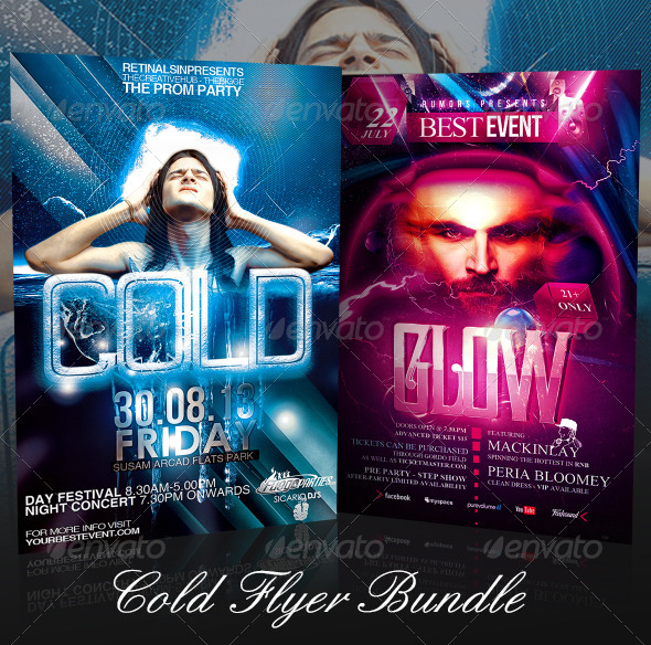 GraphicRiver Cold Flyer Bundle 7424269