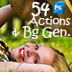 54 Photo Actions And Background Generator - Bundle - GraphicRiver Item for Sale