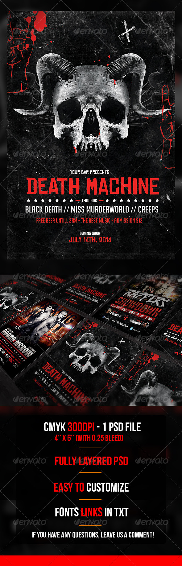 GraphicRiver Death Machine Flyer Template 7426227