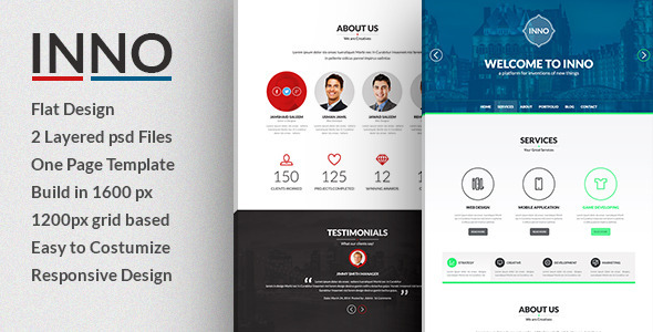 ThemeForest Inno- Creative PSD Template 7320158