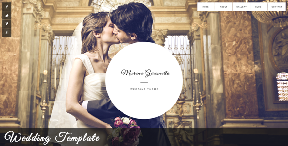 Moreno - Responsive Wedding & Event Template - Wedding Site Templates