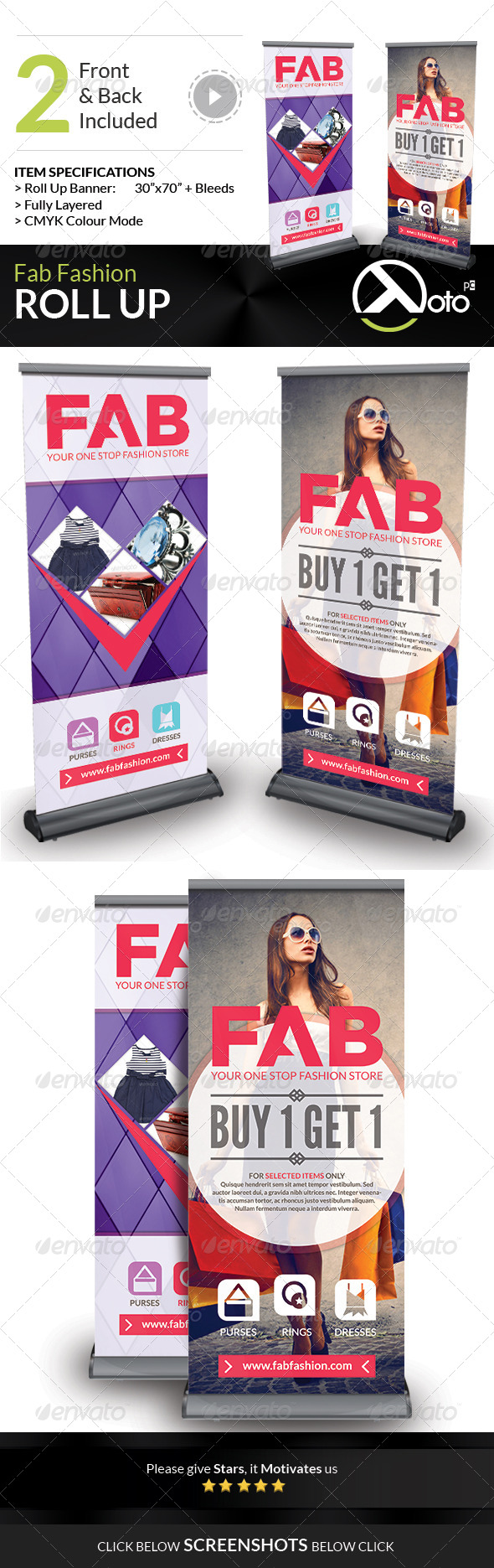 GraphicRiver Fab Fashion Roll Up Banners 7427164