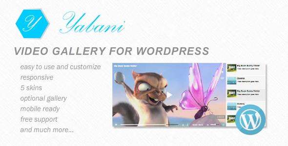 CodeCanyon Yabani Video Gallery for WordPress 7316469