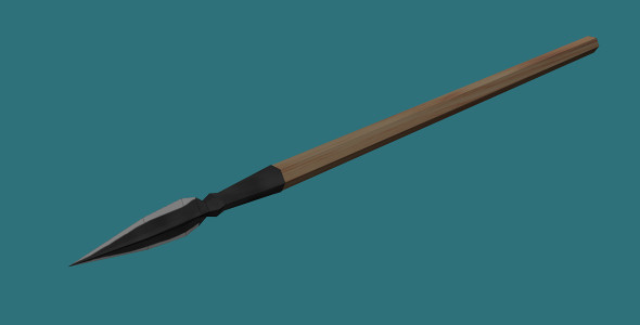 3DOcean Low Poly Spear 7428209