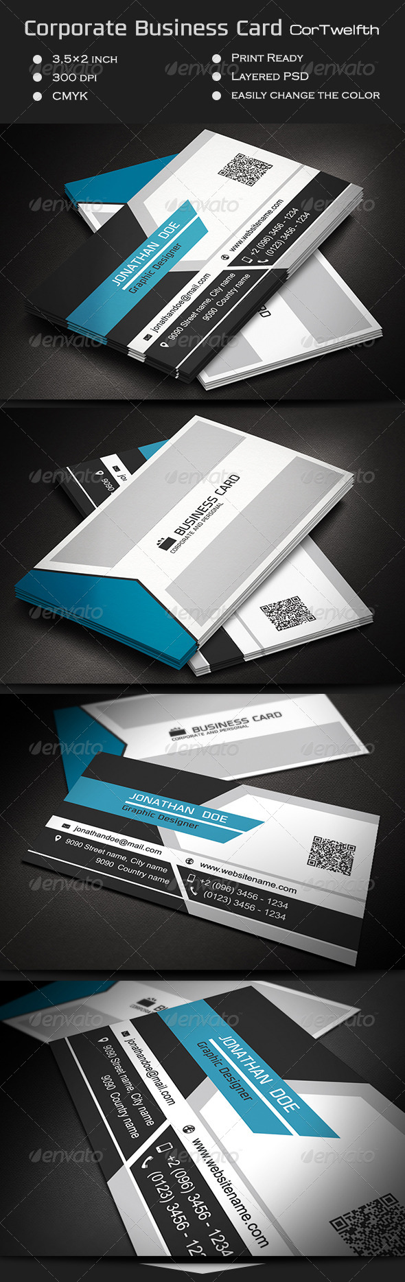 GraphicRiver Corporate Business Card CorTwelfth 7428307