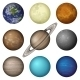 Solar System Planets and Moon Set - GraphicRiver Item for Sale