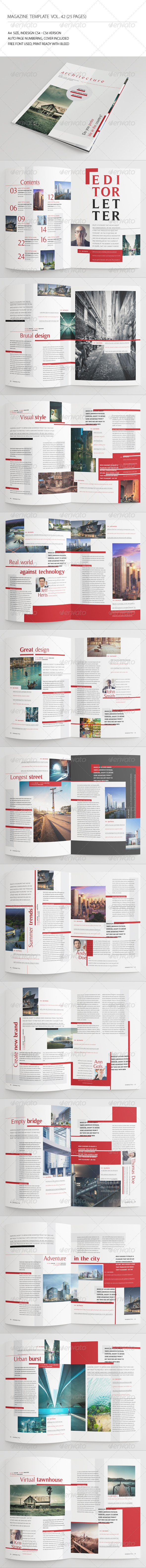 GraphicRiver 25 Pages Architecture Magazine Vol42 7428362