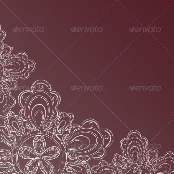 GraphicRiver Frame with Lace Floral Pattern 7428377