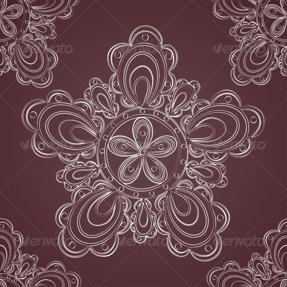 GraphicRiver Seamless Lace Pattern Fantasy Flowers 7428391