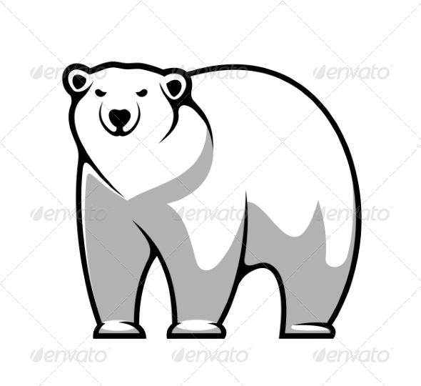 GraphicRiver Cartoon Polar Bear 7428542