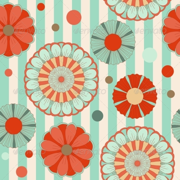 GraphicRiver Spring Pastel Floral Seamless Pattern 7428630