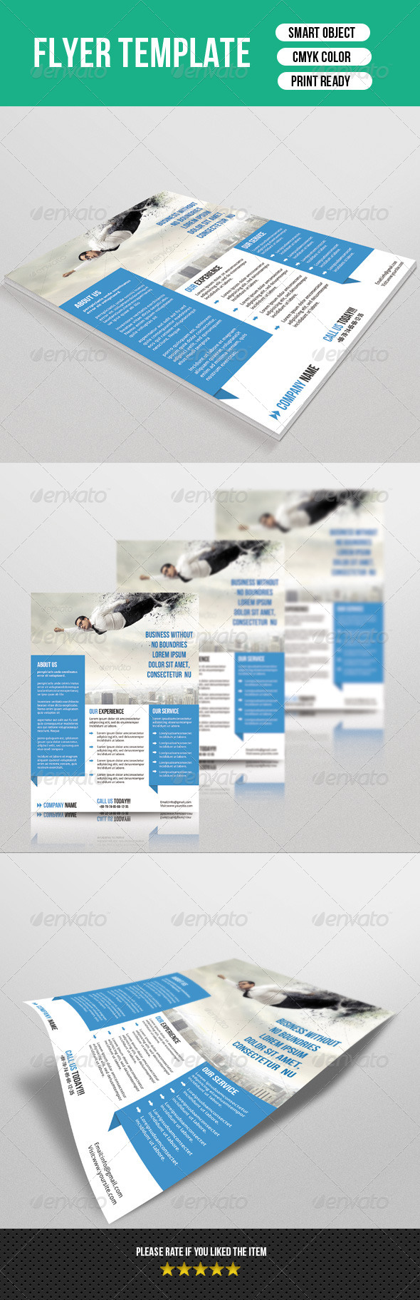 GraphicRiver Corporate Flyer Template 7428703