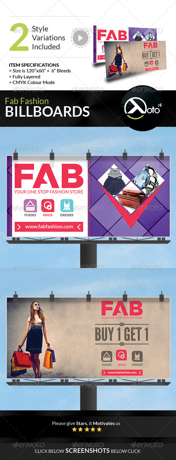 GraphicRiver Fab Fashion Sale Billboard Signages 7430348