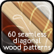 60 Seamless Diagonal Wood Patterns for Photoshop - GraphicRiver Item for Sale