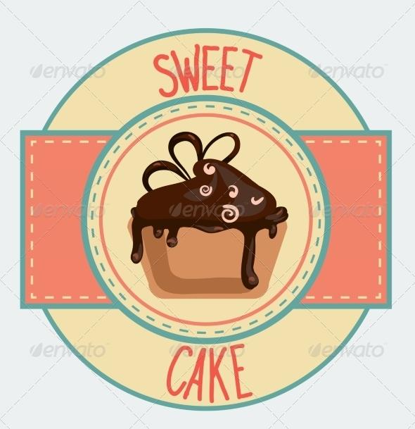 GraphicRiver Vintage Cupcake Poster Design 7430652
