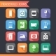 Flat Household Icons and Symbols Set - GraphicRiver Item for Sale