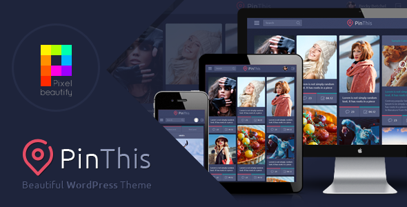 ThemeForest PinThis Best Pinterest Style Wordpress Theme 7259295