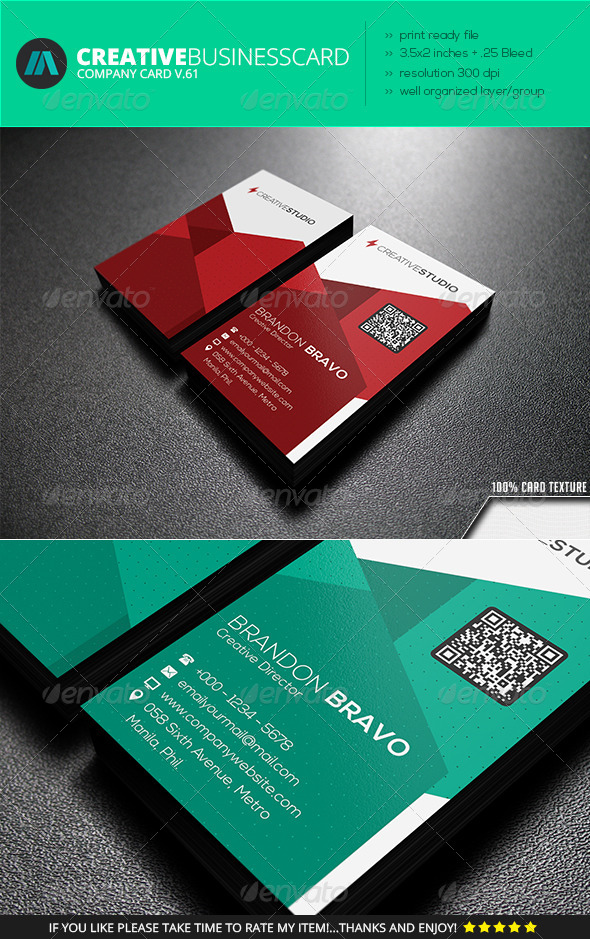 GraphicRiver IntenseArtisan Business Card Vol.61 7431098