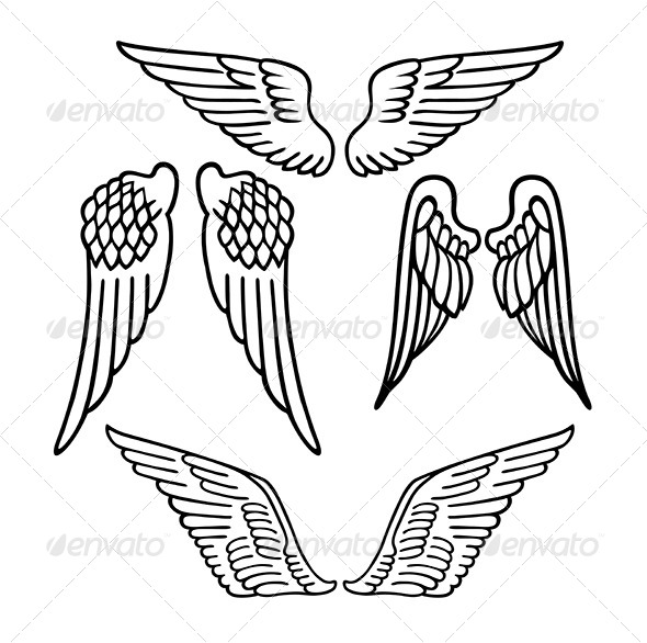 GraphicRiver Angel Wings 7431108