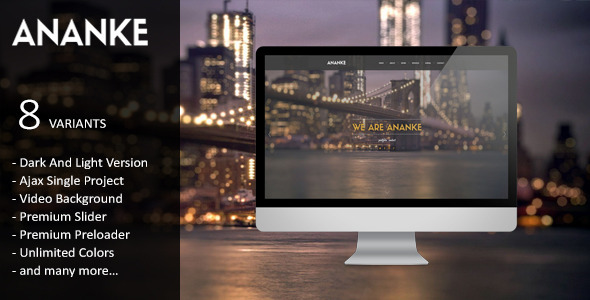 ThemeForest Ananke Parallax One Page HTML Template 7392272