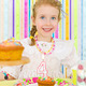 Adorable little girl celebrates her birthday. - PhotoDune Item for Sale
