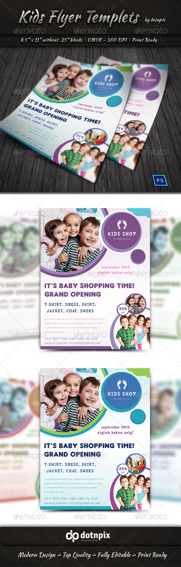 GraphicRiver Kids Flyer Templets 7431257