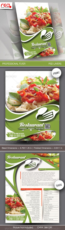 GraphicRiver Restaurant Flyer & Menu Card Template 7431266