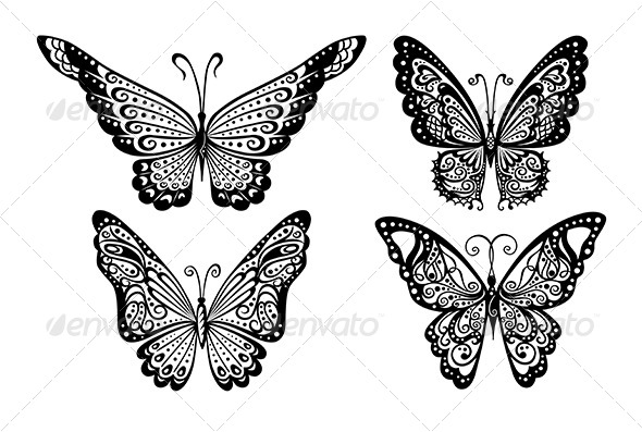 GraphicRiver Butterflies 7431274