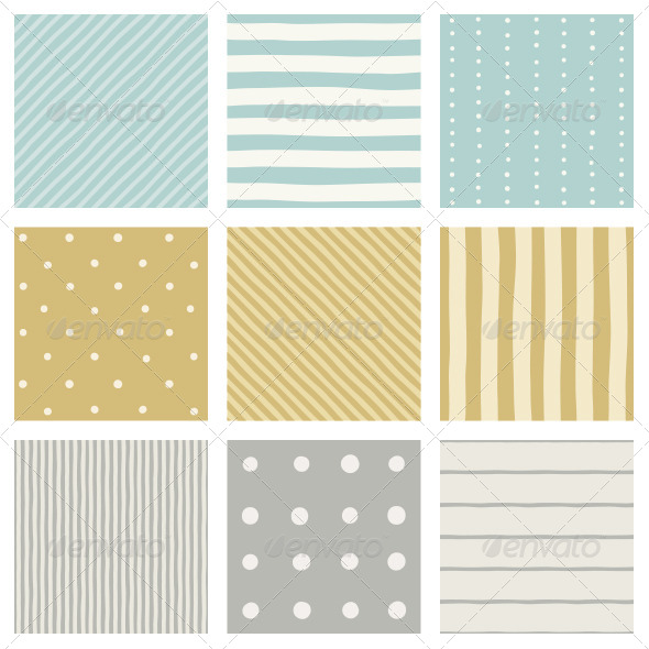 GraphicRiver Nice Stripped and Dots Patterns 7387357