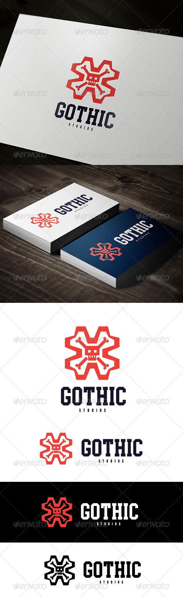GraphicRiver Skull Logo 7431450