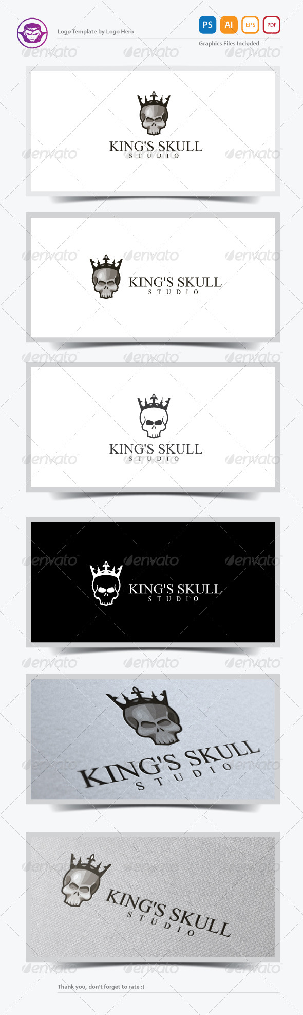 GraphicRiver King s Skull Logo Template 7431572