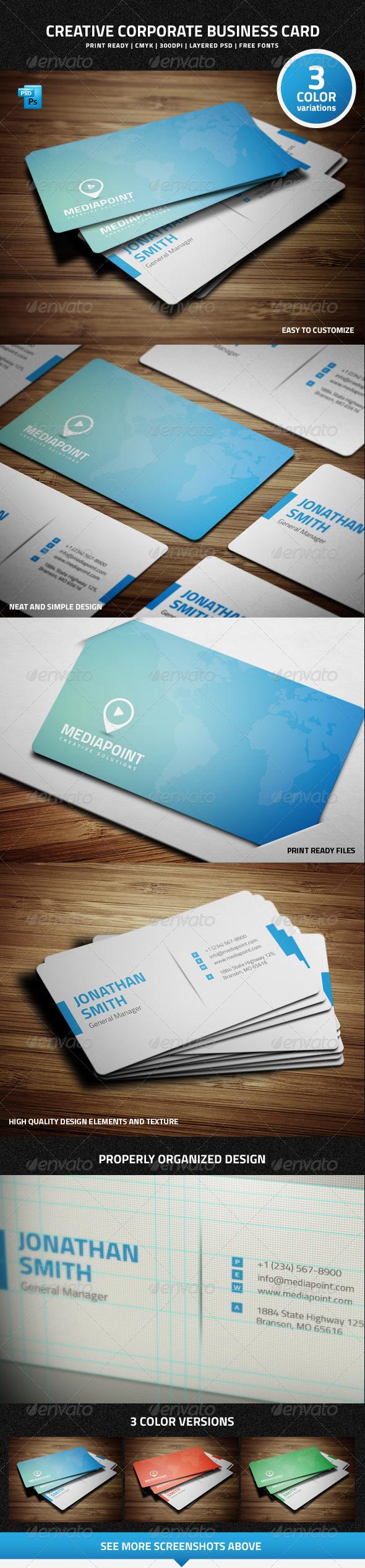 GraphicRiver Creative Corporate Business Card 7431819