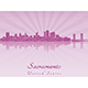Sacramento Skyline - GraphicRiver Item for Sale