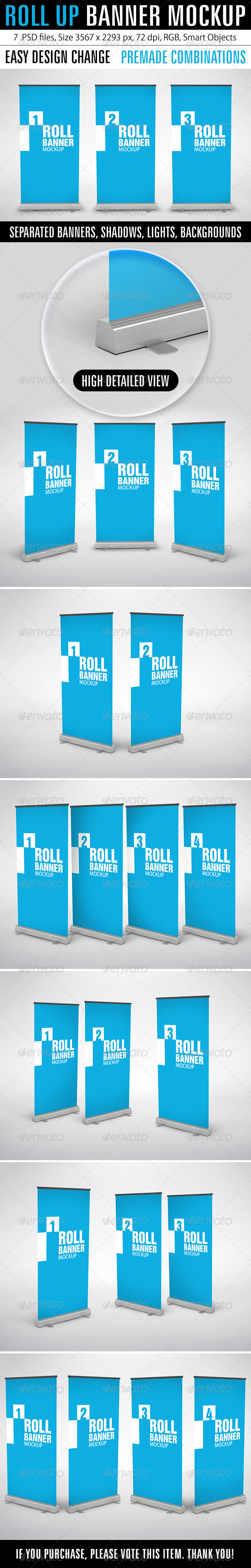 GraphicRiver Roll Up Banner Mockup 7420910
