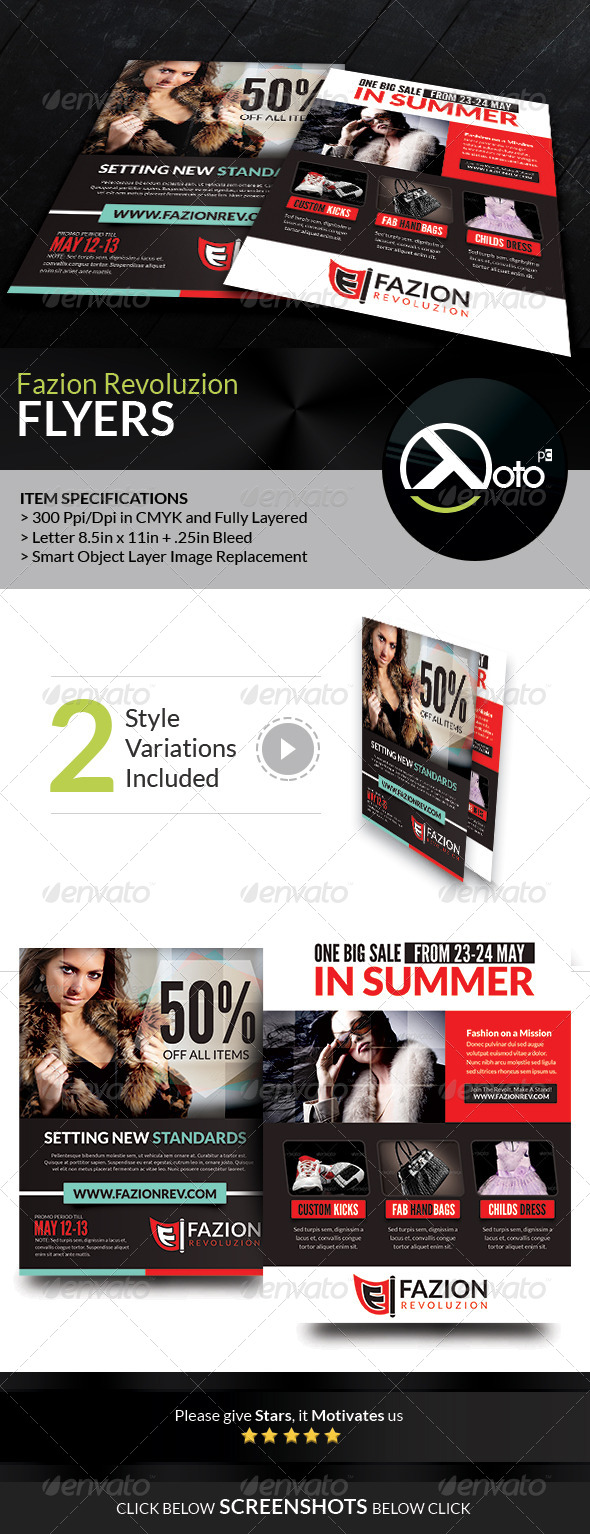 GraphicRiver Fashion Revolution Sale Flyers 7420015