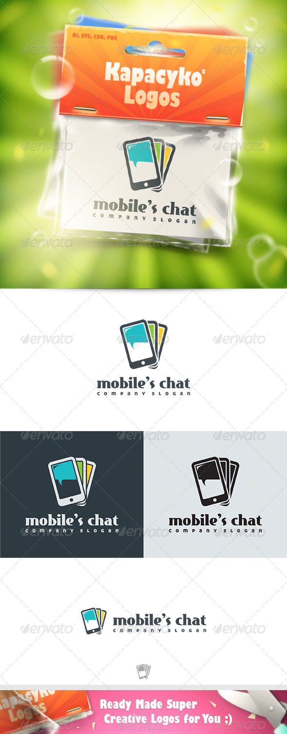 GraphicRiver Mobiles Chat Logo 7432243