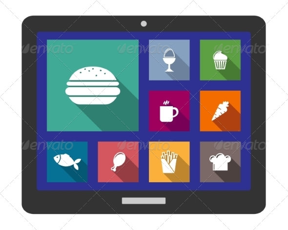 GraphicRiver Set of Flat Cooking and Food Icons 7432387