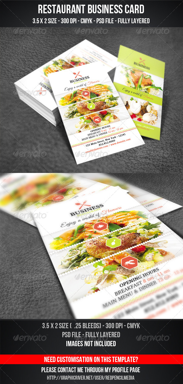 GraphicRiver Restaurant Business Card 7287744